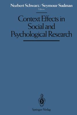 Image for Context Effects in Social and Psychological Research