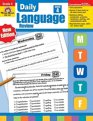 Daily Language Review, Grade 4, Laurie Williams