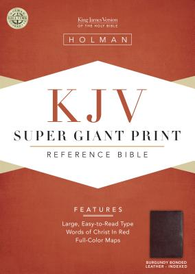 King James Version Super Giant Print Reference Bible: Indexed (KJV)