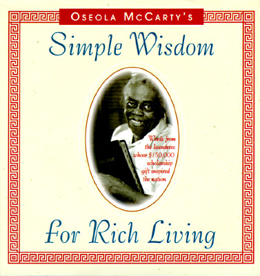 Simple Wisdom for Rich Living, Oseola McCarty