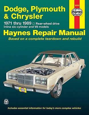 Image for Dodge, Plymouth & Chrysler: 1971 thru 1989 Rear Wheel Drive, Inline Six-Cylinder and V8 Models (Haynes Repair Manual)