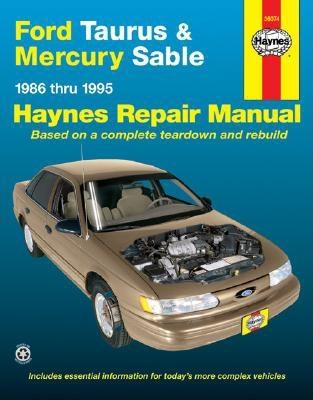 Image for Ford Taurus & Mercury Sable (86-95) Haynes Repair Manual (Does not include information specific to SHO or variable fuel models. Includes vehicle coverage apart from the specific exclusion noted)