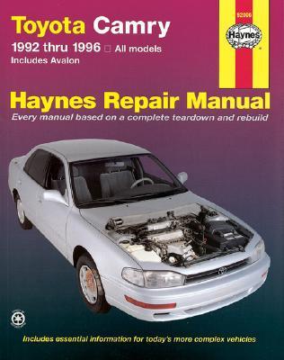 Image for TOYOTA CAMRY 1992 THRU 1996 ALL MODELS HAYNES REPAIR MANUAL