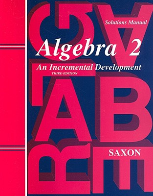 Image for Saxon Algebra 2: Solutions Manual