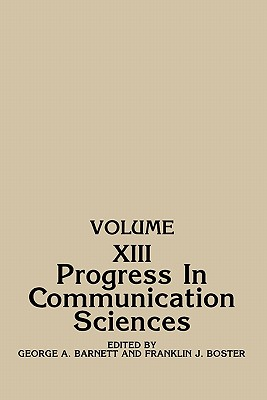 Image for Progress in Communication Sciences: Volume 13