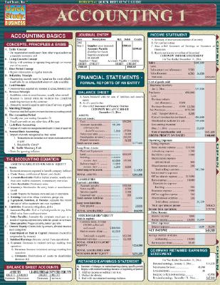 Accounting 1 (Quickstudy: Business), BarCharts, Inc.