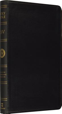 ESV Thinline Bible, Premium Bonded Leather, Black, Black Text