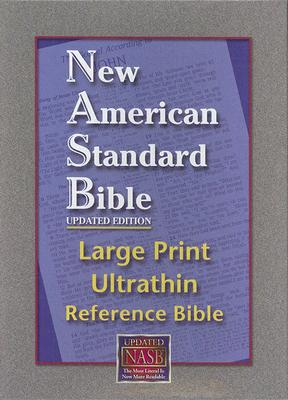 Image for NASB Large Print Ultrathin Reference Bible (Black, Bonded Leather)