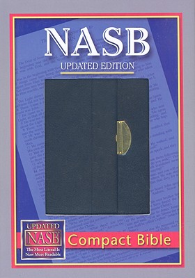 Image for NASB Compact Bible, Black - Snap Flap, BL
