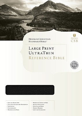 HCSB Ultrathin Reference Bible-Large Print, thumb-indexed