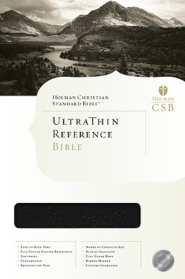 Image for Holy Bible: UltraThin Reference Edition (Holman Christian Standard, Bonded Leather, Black)