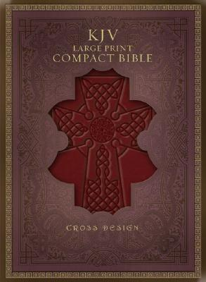 Image for KJV Large Print Compact Cross Design Bible, Burgundy