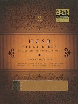 HCSB Study Bible, Brown/Tan Duotone Simulated Leather