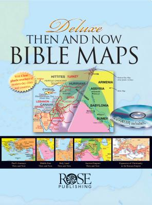Image for Deluxe Then and Now Bible Maps with CD-Rom: Bible Atlas with Clear Plastic Overlays of Modern Cities and Countries