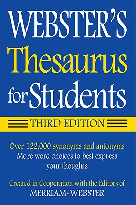 Image for Webster's Federal Street Press Thesaurus for Students, 3rd Edition, Paperback, Grades 6 and Up, 352 Pages