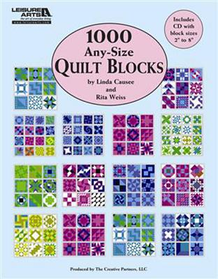 Image for 1,000 Any-Size Quilt Blocks (Leisure Arts #5593)