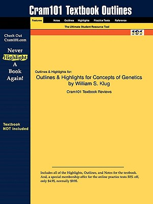 Image for Outlines & Highlights for Concepts of Genetics by William S. Klug (Cram101 Textbook Outlines)