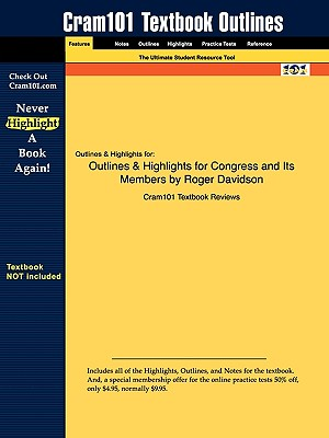 Image for Outlines & Highlights for Congress and Its Members by Roger Davidson