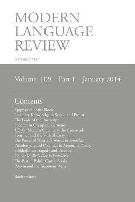 Modern Language Review (109: 1) January 2014