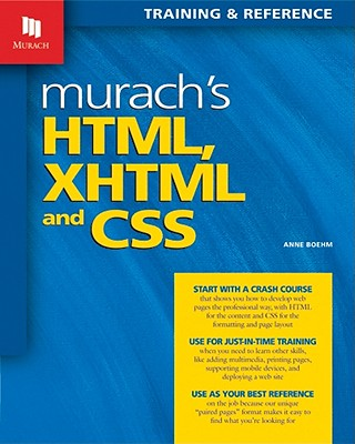 Image for Murach's HTML, XHTML, and CSS