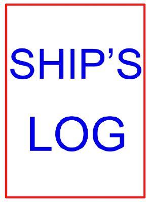 Large Ship's Log Book, Kaufman, John P.
