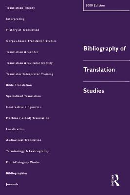 Image for Bibliography of Translation Studies: 2000