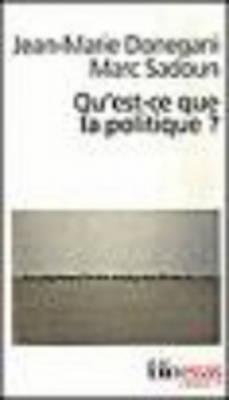 Image for Qu'est-ce qe la politique
