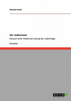 Der Judenstaat (German Edition), Herzl, Theodor