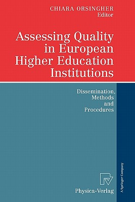 Image for Assessing Quality in European Higher Education Institutions: Dissemination, Methods and Procedures