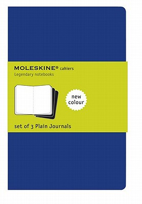 Image for Moleskine Cahier Soft Cover Journal, Set of 3, Plain, Large (5' x 8.25') Indigo Blue - for Use as Journal, Sketchbook, Composition Notebook