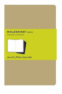 Image for Moleskine Plain Cahier Journal Kraft Large: set of 3 Plain Journals
